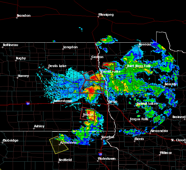 Radar Image for Severe Thunderstorms near Alvarado, MN at 6/27/2015 6:07 PM CDT