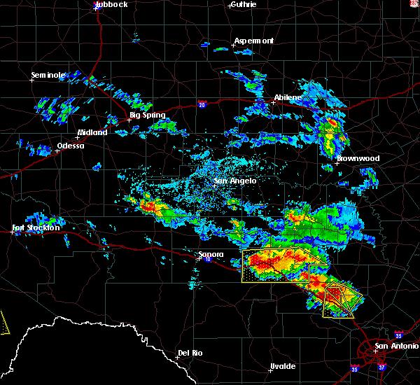 Radar Image for Severe Thunderstorms near Junction, TX at 5/28/2020 2:52 PM CDT