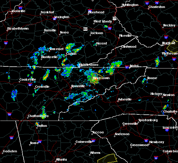 Radar Image for Severe Thunderstorms near Morristown, TN at 5/28/2020 3:55 PM EDT