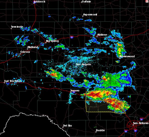 Radar Image for Severe Thunderstorms near Junction, TX at 5/28/2020 2:58 PM CDT