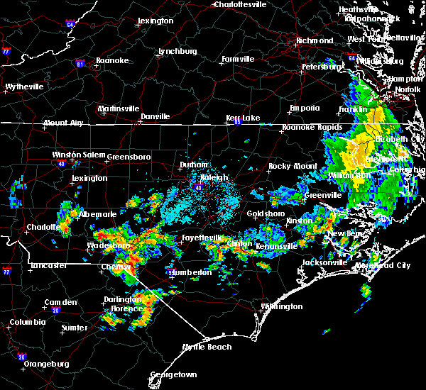 Radar Image for Severe Thunderstorms near Norwood, NC at 5/28/2020 4:34 PM EDT