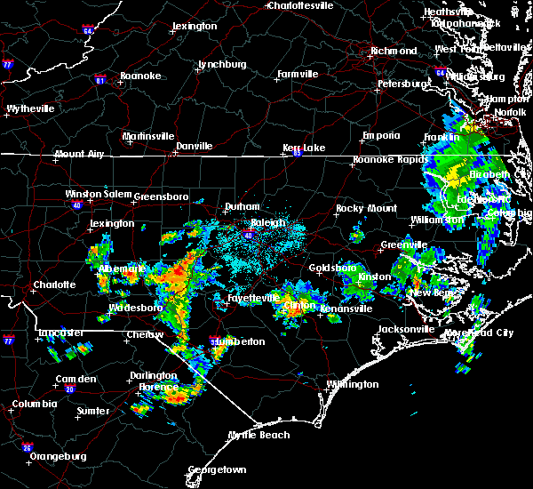Radar Image for Severe Thunderstorms near Pinehurst, NC at 5/28/2020 5:14 PM EDT