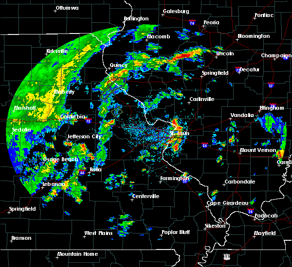 Radar Image for Severe Thunderstorms near East Alton, IL at 5/28/2020 4:25 PM CDT