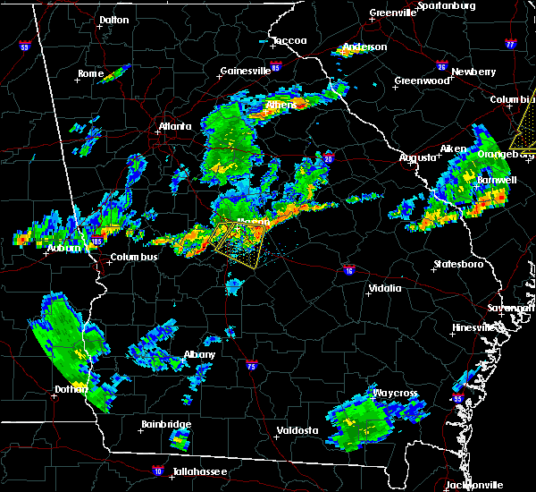 Radar Image for Severe Thunderstorms near Jeffersonville, GA at 6/27/2015 7:14 PM EDT