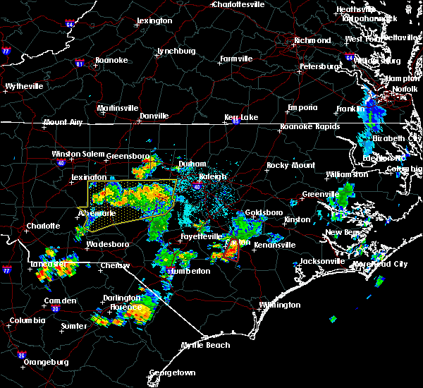 Radar Image for Severe Thunderstorms near Clinton, NC at 5/28/2020 6:03 PM EDT