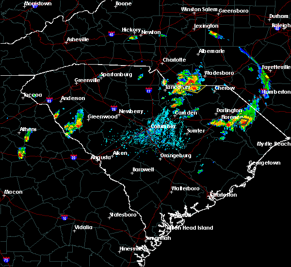 Radar Image for Severe Thunderstorms near Pageland, SC at 5/28/2020 6:28 PM EDT