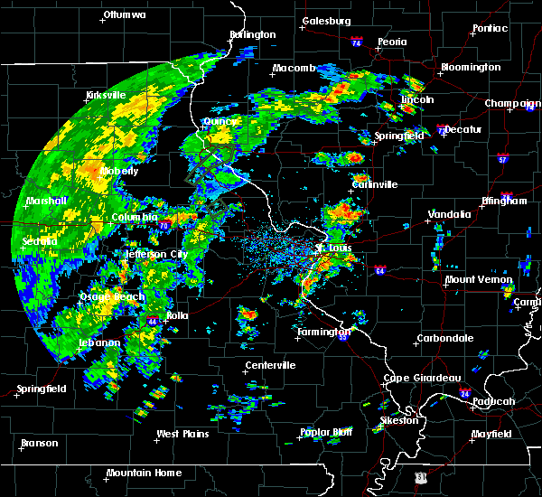 Radar Image for Severe Thunderstorms near De Soto, MO at 5/28/2020 5:31 PM CDT