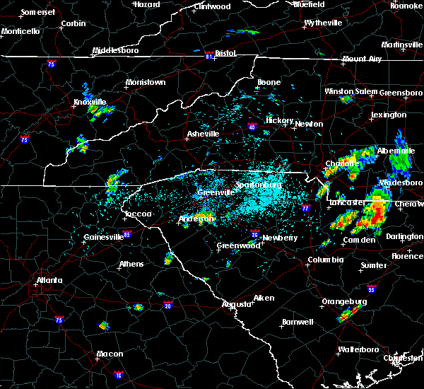 Radar Image for Severe Thunderstorms near Gray Court, SC at 5/28/2020 7:51 PM EDT