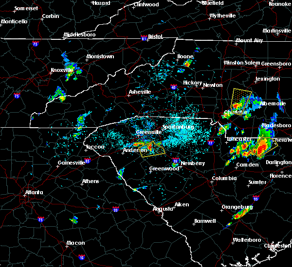 Radar Image for Severe Thunderstorms near Gray Court, SC at 5/28/2020 8:08 PM EDT