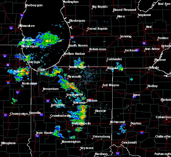 Radar Image for Severe Thunderstorms near Warsaw, IN at 5/28/2020 8:49 PM EDT