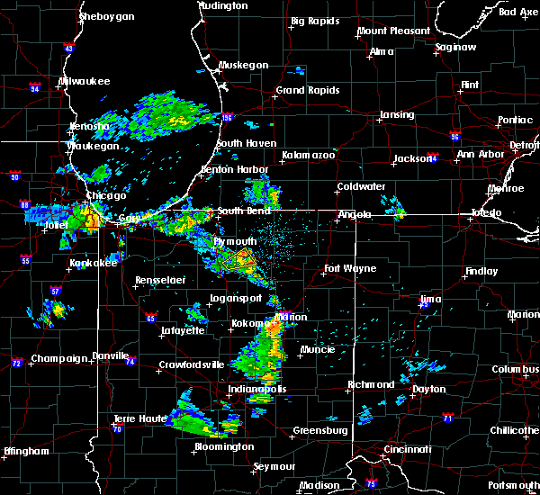 Radar Image for Severe Thunderstorms near Warsaw, IN at 5/28/2020 9:13 PM EDT