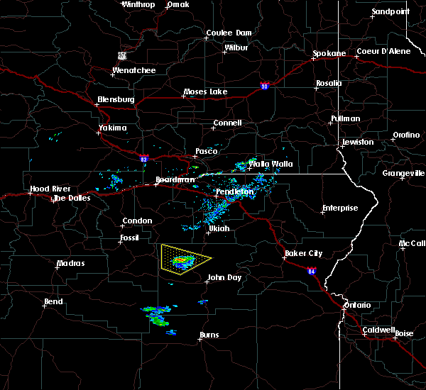 Radar Image for Severe Thunderstorms near Long Creek, OR at 5/28/2020 7:32 PM PDT