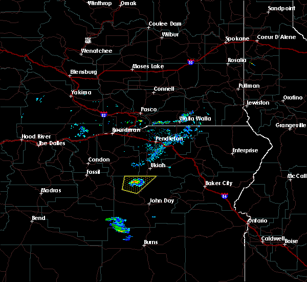 Radar Image for Severe Thunderstorms near Long Creek, OR at 5/28/2020 7:50 PM PDT