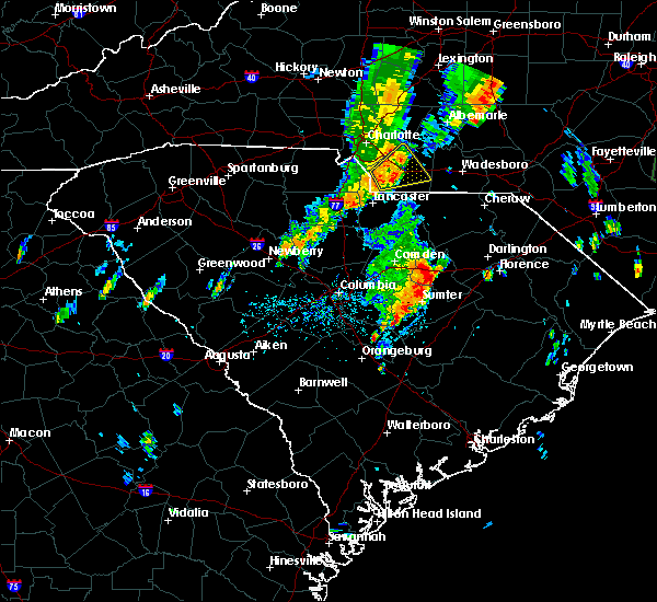 Radar Image for Severe Thunderstorms near Mineral Springs, NC at 5/29/2020 12:42 PM EDT