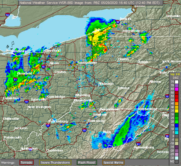 Radar Image for Severe Thunderstorms near Titusville, PA at 5/29/2020 12:44 PM EDT