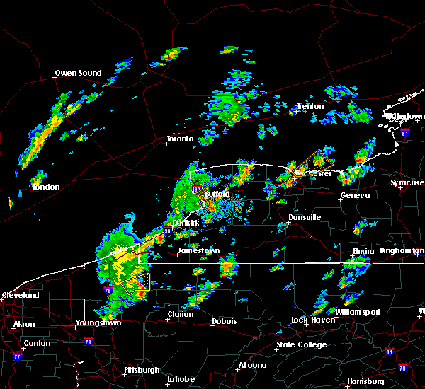 Radar Image for Severe Thunderstorms near Le Roy, NY at 5/29/2020 12:47 PM EDT