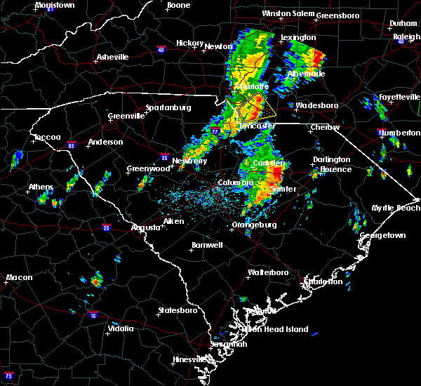 Radar Image for Severe Thunderstorms near Ansonville, NC at 5/29/2020 12:53 PM EDT