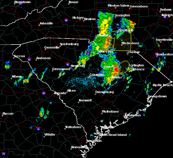 Radar Image for Severe Thunderstorms near Ansonville, NC at 5/29/2020 1:07 PM EDT