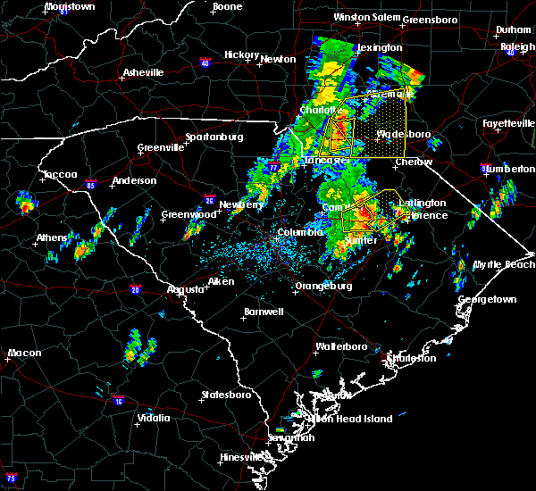 Radar Image for Severe Thunderstorms near Wingate, NC at 5/29/2020 1:12 PM EDT