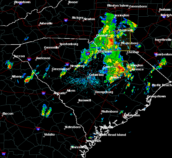 Radar Image for Severe Thunderstorms near Wingate, NC at 5/29/2020 1:22 PM EDT