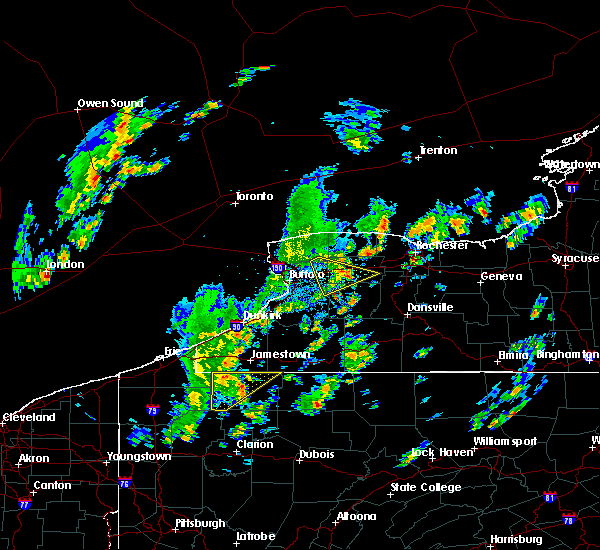 Radar Image for Severe Thunderstorms near Le Roy, NY at 5/29/2020 1:24 PM EDT