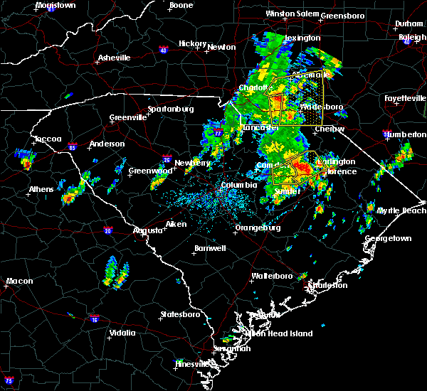 Radar Image for Severe Thunderstorms near Ansonville, NC at 5/29/2020 1:30 PM EDT