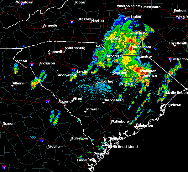 Radar Image for Severe Thunderstorms near Norwood, NC at 5/29/2020 1:44 PM EDT