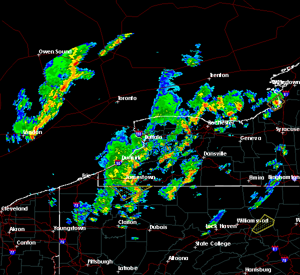 Radar Image for Severe Thunderstorms near Le Roy, NY at 5/29/2020 1:46 PM EDT