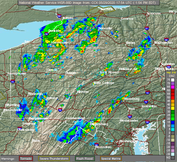 Radar Image for Severe Thunderstorms near Dauphin, PA at 5/29/2020 1:58 PM EDT