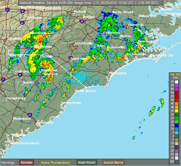 Radar Image for Severe Thunderstorms near Dillon, SC at 5/29/2020 2:12 PM EDT