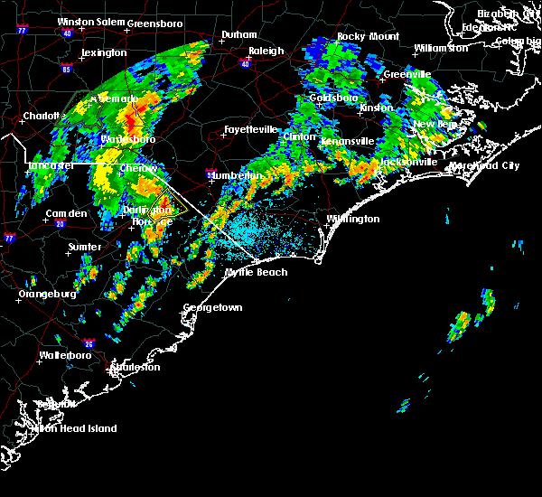 Radar Image for Severe Thunderstorms near Dillon, SC at 5/29/2020 2:28 PM EDT
