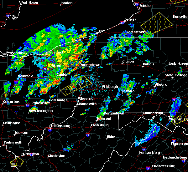 Radar Image for Severe Thunderstorms near East Palestine, OH at 5/29/2020 2:31 PM EDT