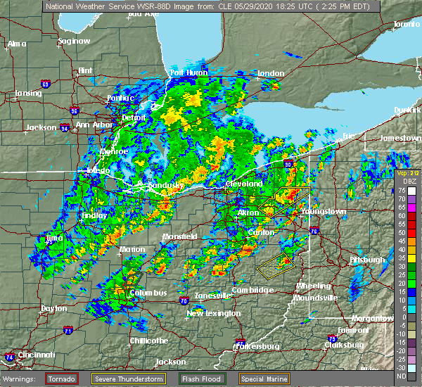 Radar Image for Severe Thunderstorms near Kinsman Center, OH at 5/29/2020 2:32 PM EDT