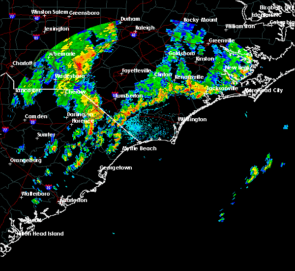 Radar Image for Severe Thunderstorms near Dillon, SC at 5/29/2020 2:41 PM EDT