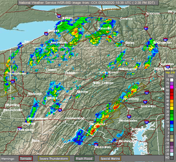 Radar Image for Severe Thunderstorms near Carlisle, PA at 5/29/2020 2:42 PM EDT