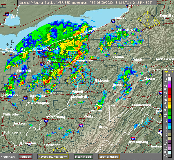 Radar Image for Severe Thunderstorms near Zoar, OH at 5/29/2020 2:52 PM EDT
