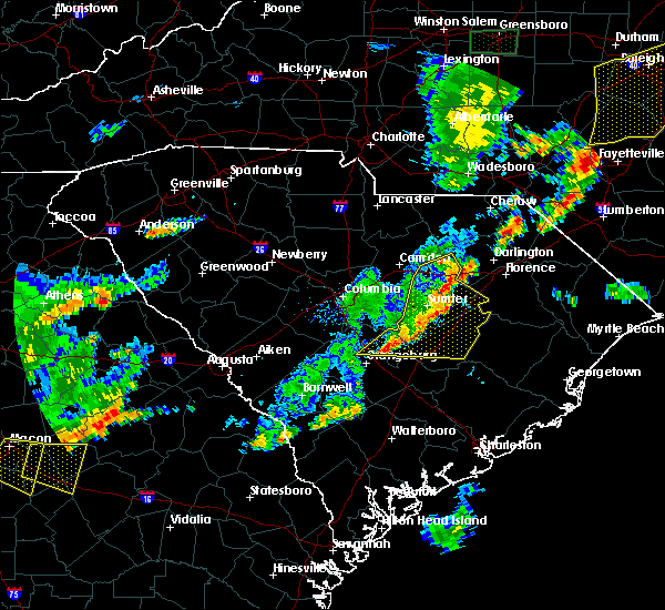Radar Image for Severe Thunderstorms near Timmonsville, SC at 6/27/2015 7:30 PM EDT