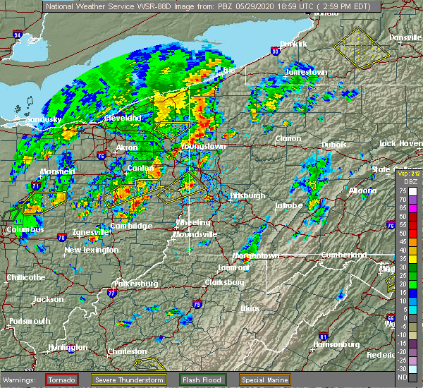 Radar Image for Severe Thunderstorms near Industry, PA at 5/29/2020 3:03 PM EDT
