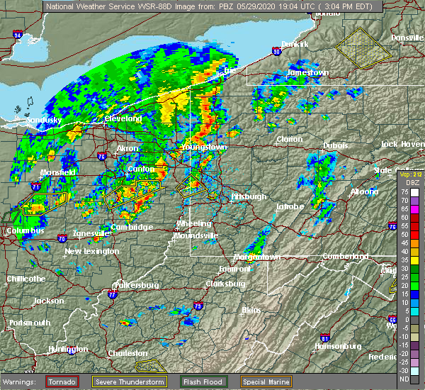 Radar Image for Severe Thunderstorms near Industry, PA at 5/29/2020 3:09 PM EDT