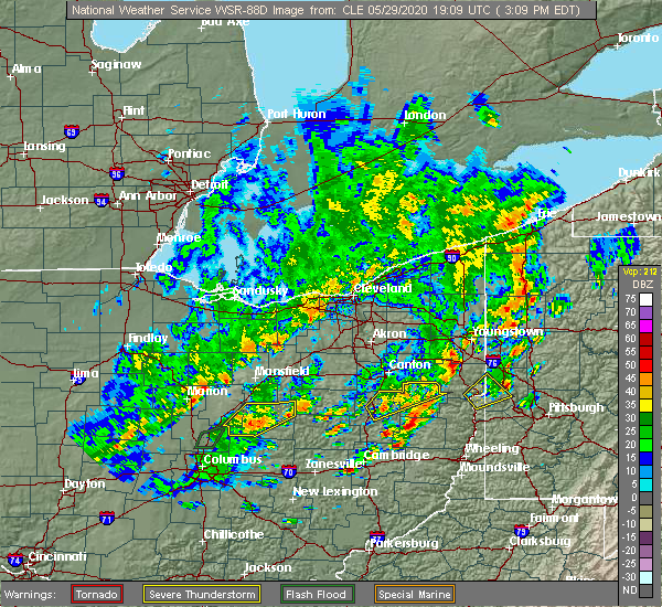 Radar Image for Severe Thunderstorms near Fredericktown, OH at 5/29/2020 3:17 PM EDT