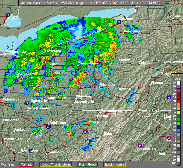 Radar Image for Severe Thunderstorms near Industry, PA at 5/29/2020 4:03 PM EDT