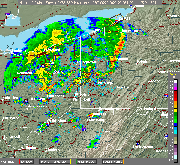 Radar Image for Severe Thunderstorms near Industry, PA at 5/29/2020 4:26 PM EDT