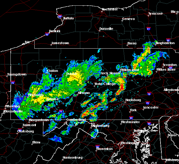 Radar Image for Severe Thunderstorms near Kulpmont, PA at 5/29/2020 8:40 PM EDT