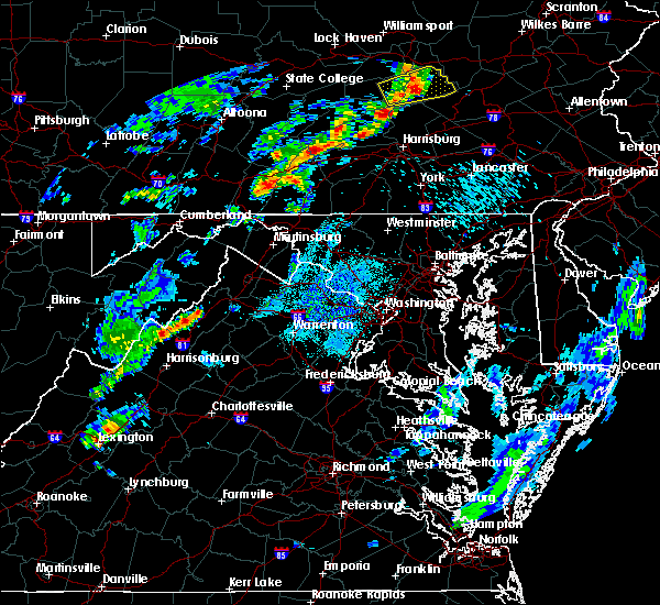 Radar Image for Severe Thunderstorms near Toms Brook, VA at 5/29/2020 8:55 PM EDT