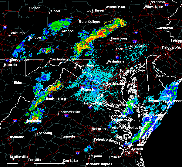 Radar Image for Severe Thunderstorms near Toms Brook, VA at 5/29/2020 9:13 PM EDT