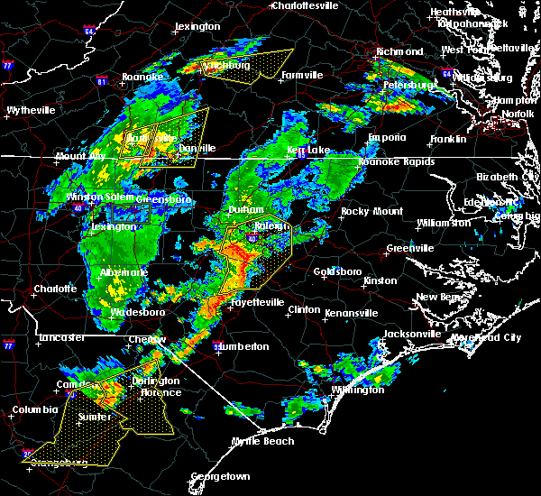 Radar Image for Severe Thunderstorms near Durham, NC at 6/27/2015 7:49 PM EDT