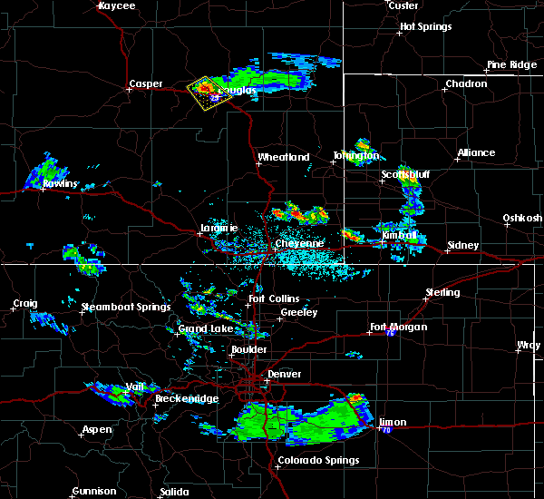 Radar Image for Severe Thunderstorms near Douglas, WY at 5/29/2020 7:38 PM MDT