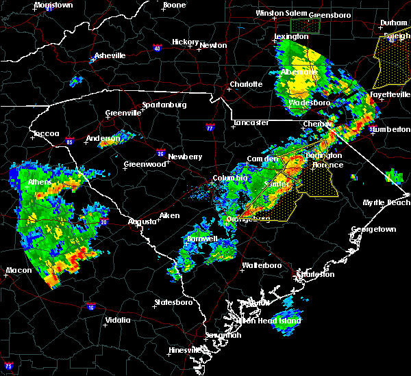 Radar Image for Severe Thunderstorms near Mayesville, SC at 6/27/2015 7:48 PM EDT