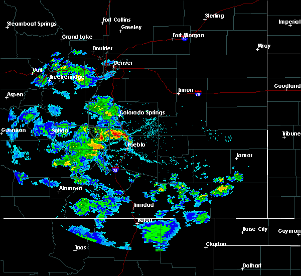 Radar Image for Severe Thunderstorms near Fountain, CO at 5/30/2020 4:11 PM MDT
