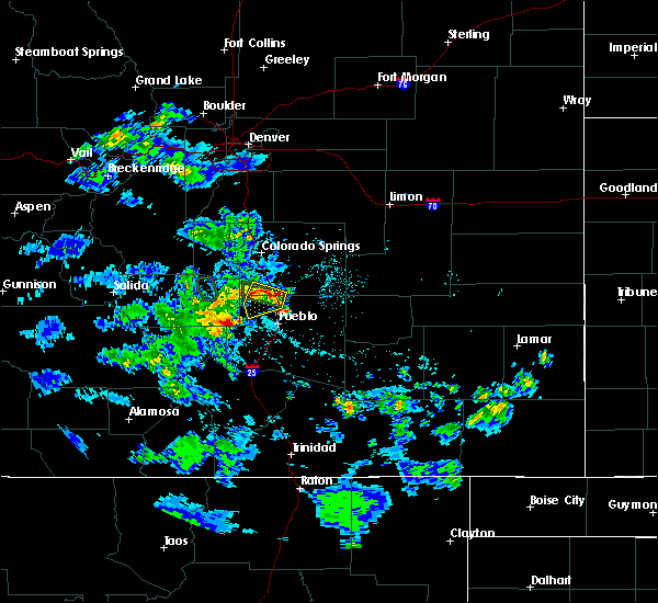 Radar Image for Severe Thunderstorms near Fountain, CO at 5/30/2020 4:26 PM MDT